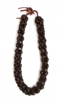 Kukui Nut: 3-Strand Lei - Brown - Product Image