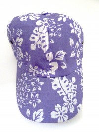 Hawaiian Floral Print Hat - Product Image