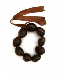 Kukui Nut: Brown anklet - Product Image
