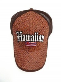 Lauhala Baseball Cap with Hawaiian Flag - Limited Special Edition - Product Image