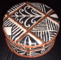 Jewelry Box: Round Fiji Design - Product Image