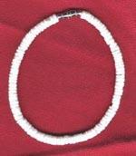Bracelet/Anklet: White puka cut shell - Product Image