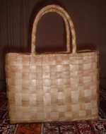 Lauhala Purse with Handles: Plain Design - Product Image