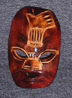 War Mask: Single Weapon in Red Mako Wood - Product Image