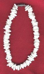 Bracelet/Anklet: White Puka Shell - Product Image