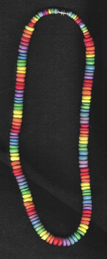 Necklace & Anklet: Large-beaded rainbow - Product Image