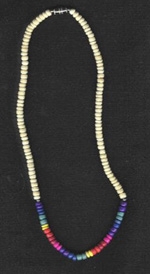 Necklace: Beige rainbow - Product Image