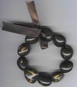 Kukui Nut: Dark tiger anklet - Product Image