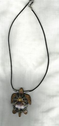 Wood Sea Turtle w/ Shell Necklace - Product Image
