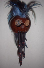 Hawaiian War Helmet With Beads - Product Image