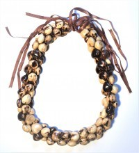 Kukui Nut: 3-Strand Lei - Tiger - Model 1 - Product Image