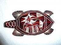 Fijian Mako Wood Sea Turtle # 8 - Product Image