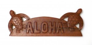 Hanging Sign: Aloha Sea Turtles - Product Image