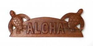 Hanging Sign: Aloha Sea Turtles - Product Image