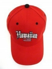 Hawaiian Flag Solid Print Hat - Product Image