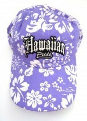 Hawaiian Pride Floral Print Hat - Product Image