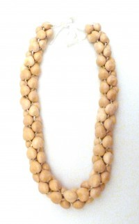 Kukui Nut: 3-Strand Lei - Blond/White - Product Image