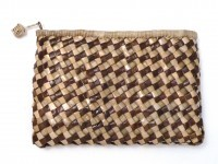 "Lauhala Clutch Purse - Checkerboard 9""x6"" - Product Image"