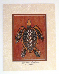 Mat: Framed Single Sea Turtle - Product Image