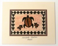 Mat: Framed Three Petroglyph Sea Turtles - Style 2b - Product Image