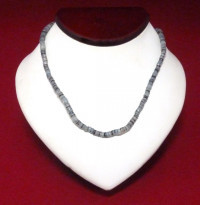 Necklace: Gray/Black Cut Shell - Product Image