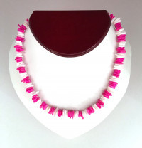 Necklace: Pink and White Puka Shell - Product Image