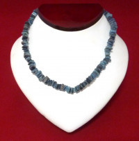 Necklace: Steel Blue Puka Shell - Product Image