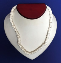 Necklace: White Hand-Strung Shell - Product Image