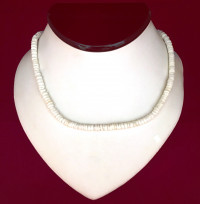 Necklace: White Cut Shell - Product Image