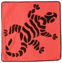 Pillow Covering: Fiji Gecko in Red/Black - Product Image