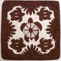 Pillow Covering: Five Sea Turtles in Brown/White - Product Image