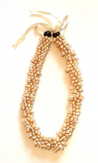 Shell: Cowrie Shell Lei - Brown Kukui Nut Tip - Product Image