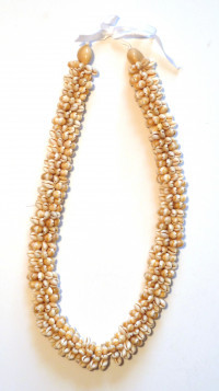 Shell: Cowrie Shell Lei - Blond Kukui Nut Tip - Product Image